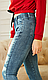 Женские  весенние джеггинсы , плотные, пояс резинка, средняя посадка р. 42,44,46,48 голубой, жіночі, фото 3