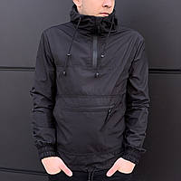 Мужская куртка спортивная ,ветровка непромокаемая,(черная)
