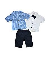 Нарядний костюм для хлопчика (бриджі, сорочка, піджак) 74