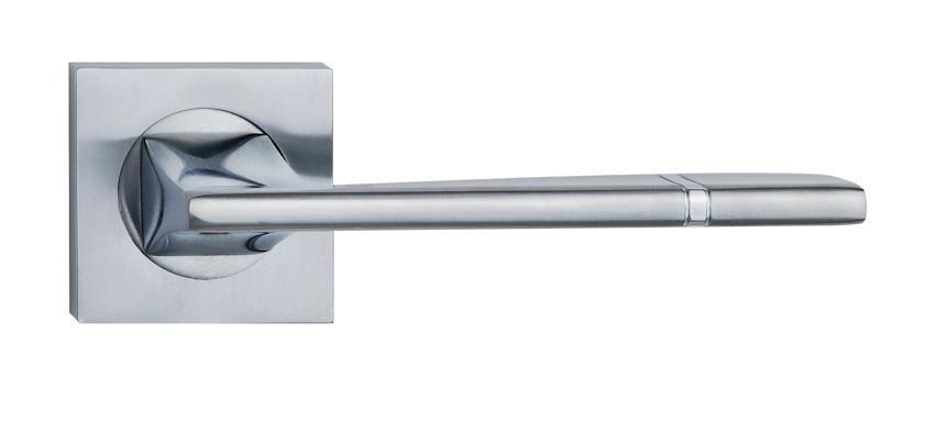 Ручка дверна на розетці SIBA Odessa, мат.нікель-хром
