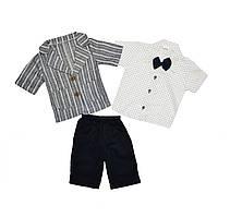 Костюм дитячий хлопчикові (бриджі, сорочка, піджак) 74