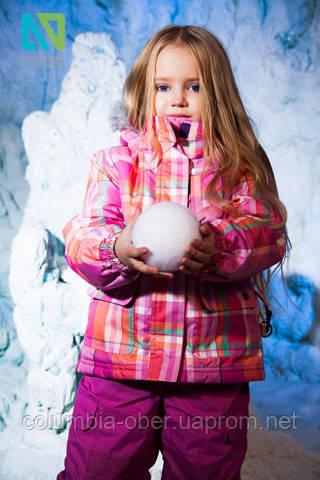 Зимний термокомплект для девочки NANO 256 Gerbera. Размеры 24 мес и  3Х.