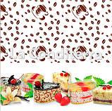 """Бордюрна стрічка для тортів з малюнком """"Кавові зерна"""" (висота 50 мм), рулон 100 м, фото 2"""