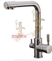 Смеситель для кухни с выходом для питьевой воды ZERIX LR4055-3