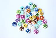 Набор круглых декоративных пуговиц Pugovichok для рукоделия и творчества 15мм в точку