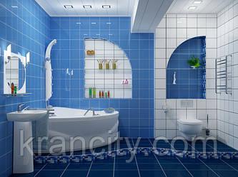 Как увеличить визуально ванную комнату??? Это просто!!!