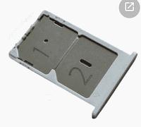 Лоток для сим карты Xiaomi Mi4c, Mi4i, белый, 2 Sim