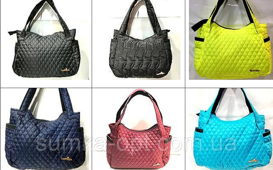 Женские вместительные сумки с боковыми карманами (7 цветов)30*43см