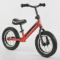 """Беговел красный CORSO стальная рама 12"""" надувные колеса для деток 2-4 года"""