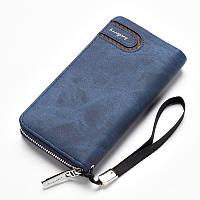 Мужской клатч портмоне BAELLERRY Jeans Young Style Мужской клатч портмоне на молнии, Синий (SUN0249)