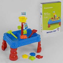 Столик для песка и воды 107 (8) 24 эл., в коробке