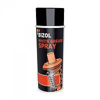 Спрей-смазка белая с тефлоном - BIZOL WHITE GREASE SPRAY 0,4л