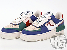 Женские кроссовки Nike Air Force 1 Shadow Mystic Navy/White-Green CI0919-400, фото 3