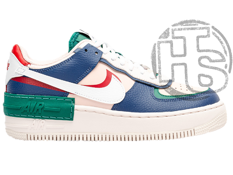 Женские кроссовки Nike Air Force 1 Shadow Mystic Navy/White-Green CI0919-400