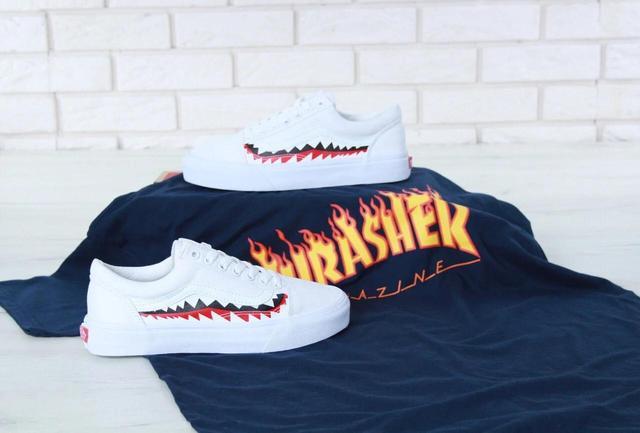 Vans Old Skool Shark Black White