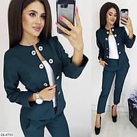 Костюм жіночий брюки і піджак розміри 42 44 46 Новинка є багато кольорів