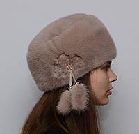 Норковая шапка женская Кубанка мягкая, фото 1