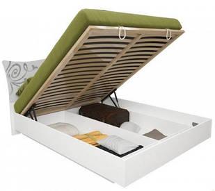 Кровать Богема 160*200 c каркасoм и подъемным механизмом глянец белый ТМ Миро Марк