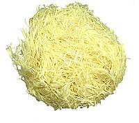 Наполнитель из тишью для коробок лимонный 100грамм
