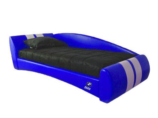 Детская кровать Формула BMW 120*190 с подъемным механизмом