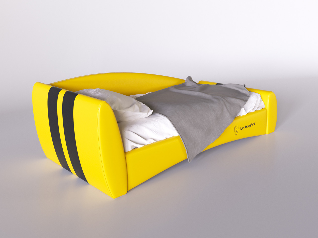 Детская кровать Формула lamborghini 120*200 с подъемным механизмом