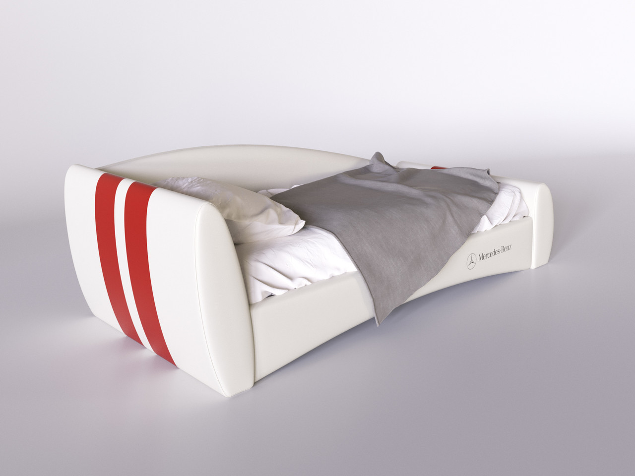 Детская кровать Формула Mercedes - Benz 120*200 с подъемным механизмом