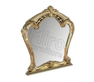 Зеркало Ева Белый глянец-Золото ТМ Миро марк