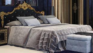 Кровать Дженнифер с каркасом мягкая спинка Black-Gold ТМ Миро марк 180*200