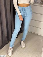 Красивые удобные спортивные штаны двунитка арт 66