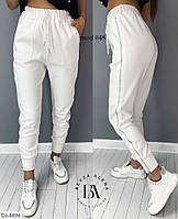 Модные удобные спортивные брюки двунитка арт 048