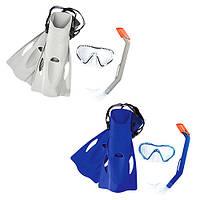 Набір для плавання BW 25025 маска, трубка, ласти, 2 кольори.
