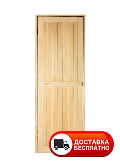 Дверь глухая из липы для бани Tesli 1900*700
