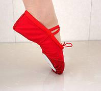 Балетки красные для танцев балета гимнастики