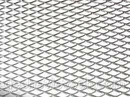 Сетка декоративная для бамперов и решеток серебристая (100*20), (Vitol)