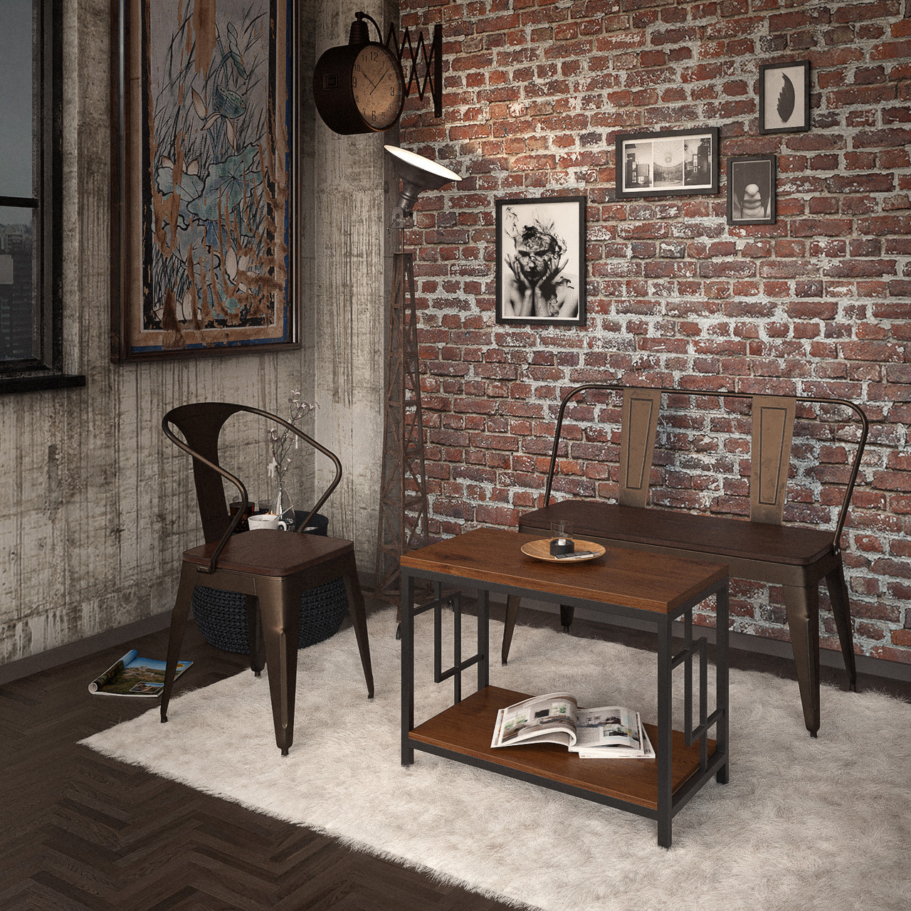 Журнальный стол Брайтон (серия Loft) ТМ Tenero