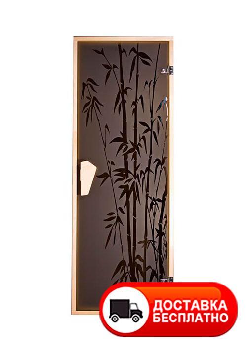 Двери для сауны Tesli Бамбуковый лес 1900*700