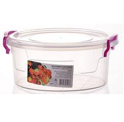 Контейнер пищевой Round Box 18 * 17 * 7,5 см 1,2л. AL-Plastik круглый