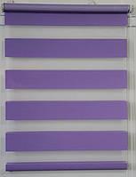 Готовые рулонные шторы Ткань Z-073 Сиреневый