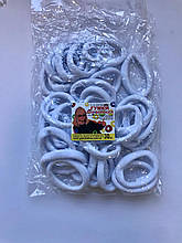 Резинки белые 30 штук микрофибра бесшовные