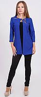 Жакет женский удлиненный синий, фото 1