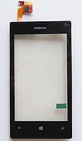 Оригинальный тачскрин (сенсорное стекло) с рамкой для Nokia Lumia 521 (черный цвет)