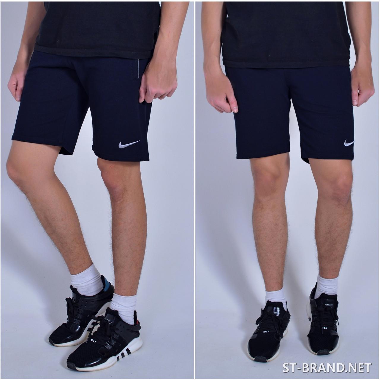 Размеры:46-54. Мужские шорты / Трикотаж, Турция - темно-синие