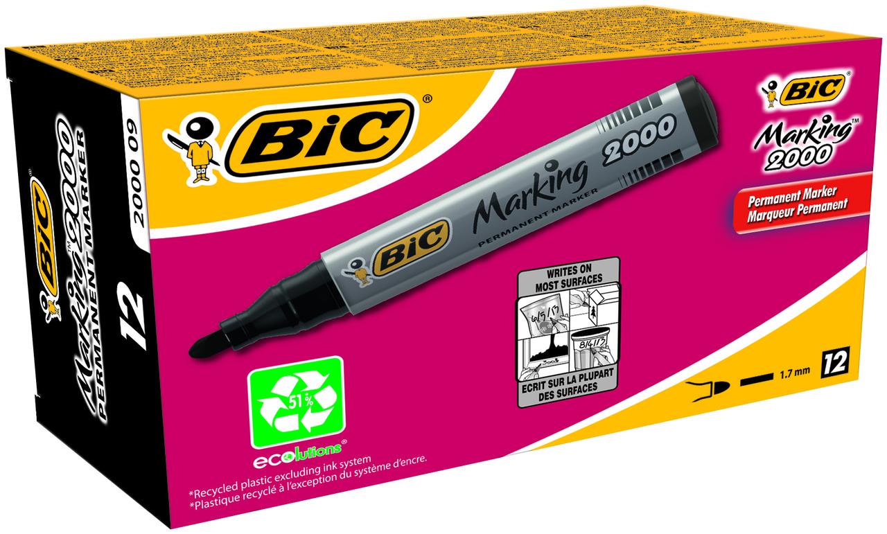 Маркер BIC перманентний чорний 2000 (1 шт)
