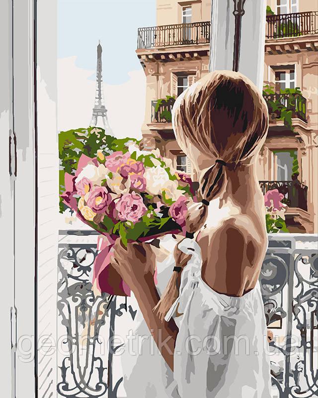 Картина по номерам.  Из Парижа с любовью 40х50см арт. КНО4567