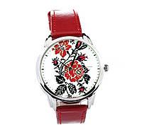 Наручные часы AndyWatch цветы вишиванки на красном арт. AW 078
