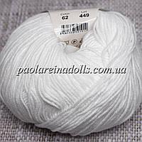 Пряжа ЯрнАрт Джинс YarnArt Jeans, цвет №62 очень белый