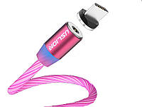 Магнитный кабель Uslion Для быстрой зарядки Светящийся Micro USB Красный
