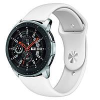 Ремешок BeWatch силиконовый для Samsung Galaxy Watch 46 мм Белый (1020302)