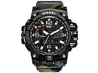 Часы Smael водонепроницаемые кварцевые мужские  Camo-Amy-Green