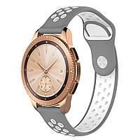 Ремешок BeWatch sport-style для Samsung Galaxy Watch 42 мм Серо-Белый (1010142.2), фото 1